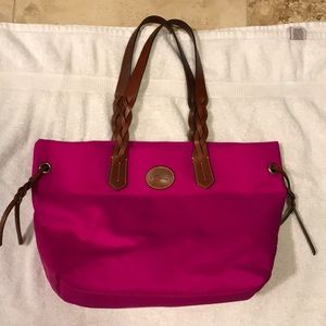 Hot pink Dooney and Bourke tote